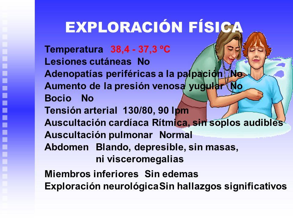 EXPLORACIÓN FÍSICA Temperatura Lesiones cutáneas