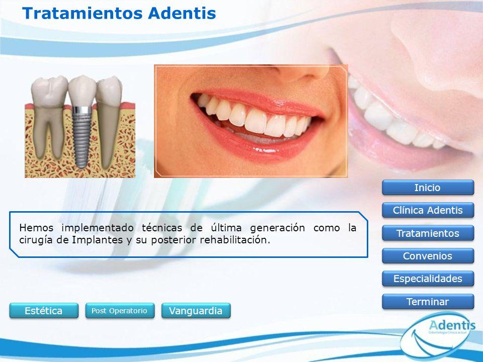 Tratamientos Adentis Inicio. Clínica Adentis.
