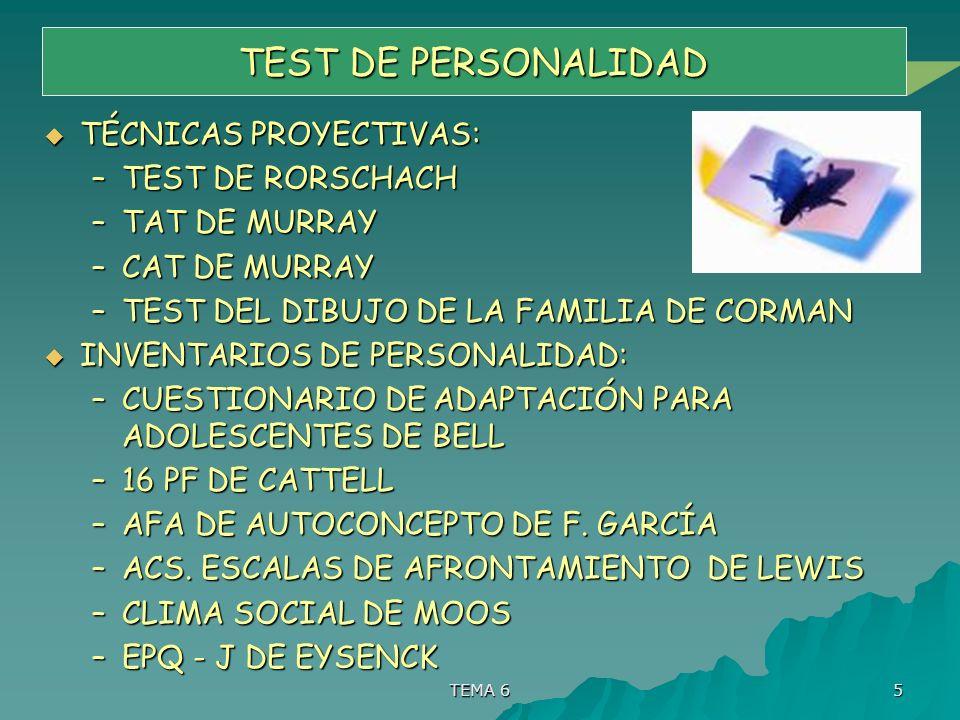 TEST DE PERSONALIDAD TÉCNICAS PROYECTIVAS: TEST DE RORSCHACH