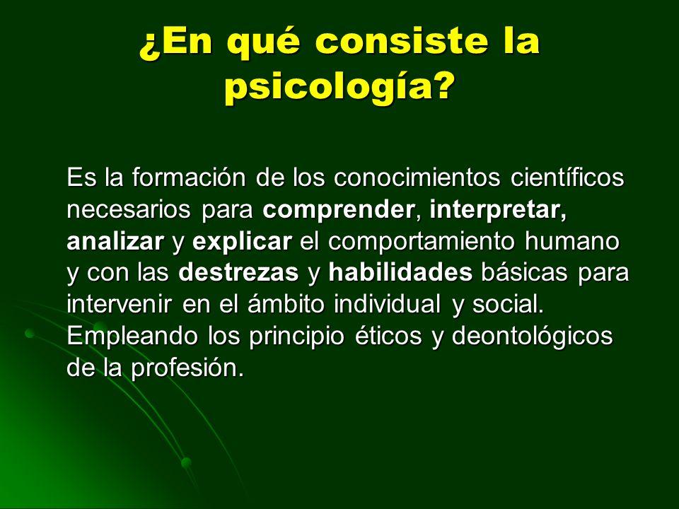 ¿En qué consiste la psicología