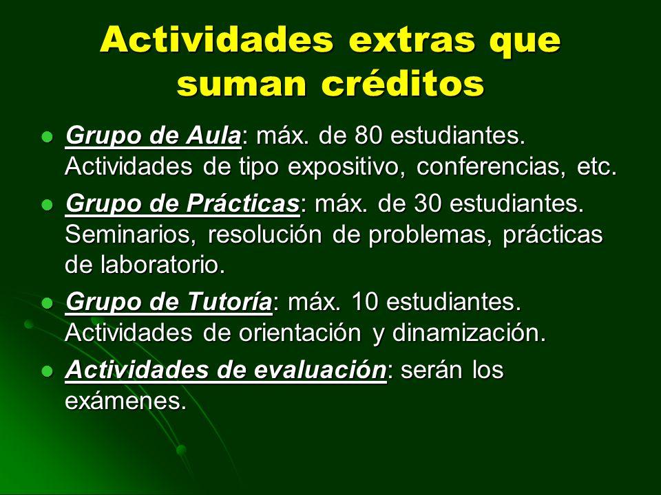 Actividades extras que suman créditos
