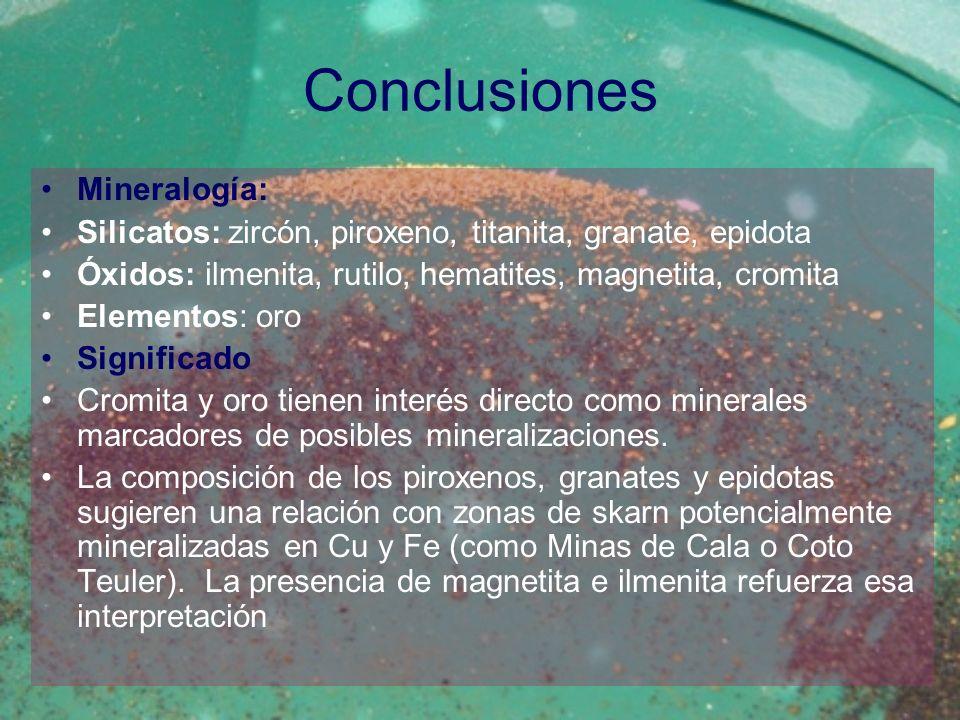 Conclusiones Mineralogía: