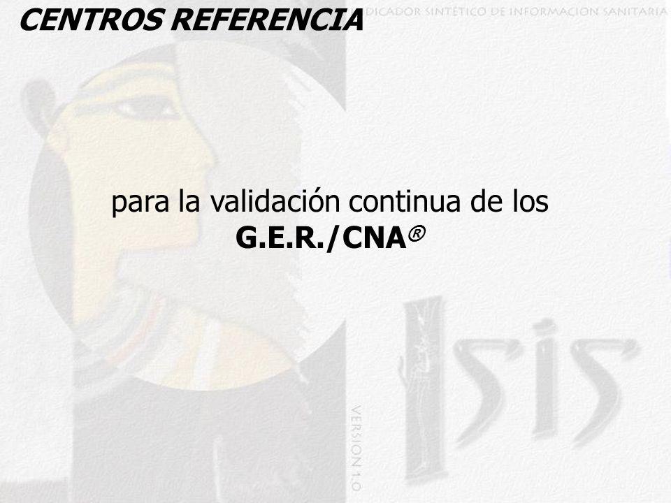 para la validación continua de los G.E.R./CNA®