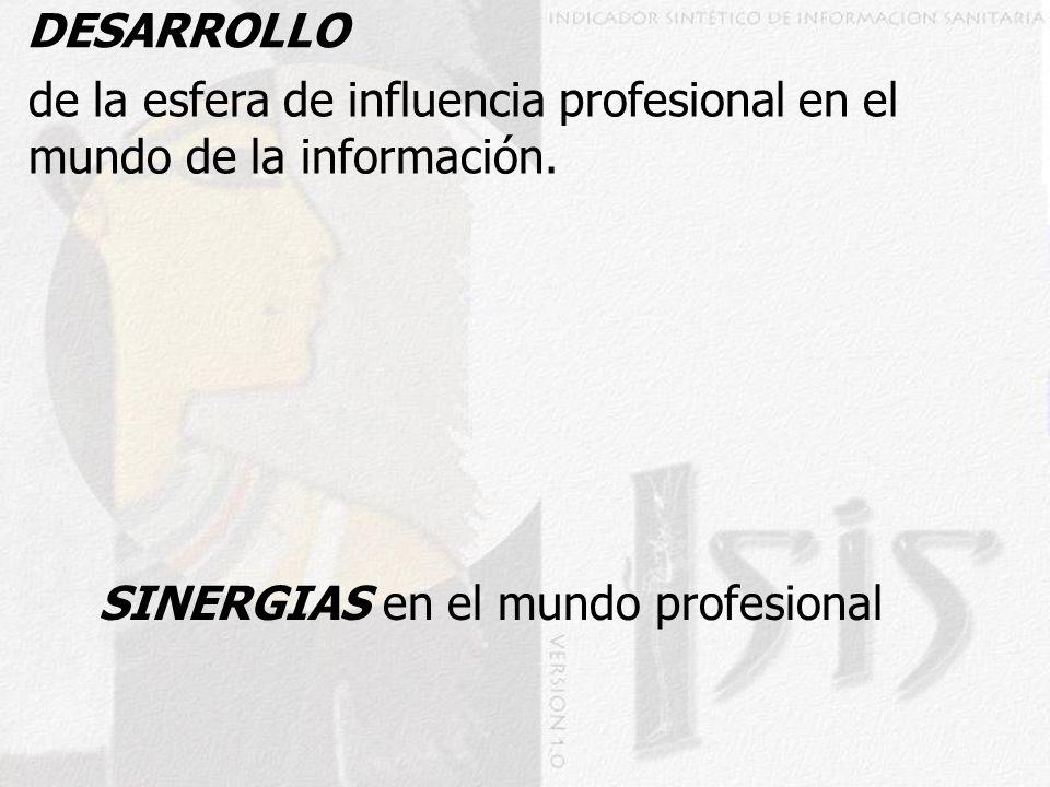 DESARROLLO de la esfera de influencia profesional en el mundo de la información.