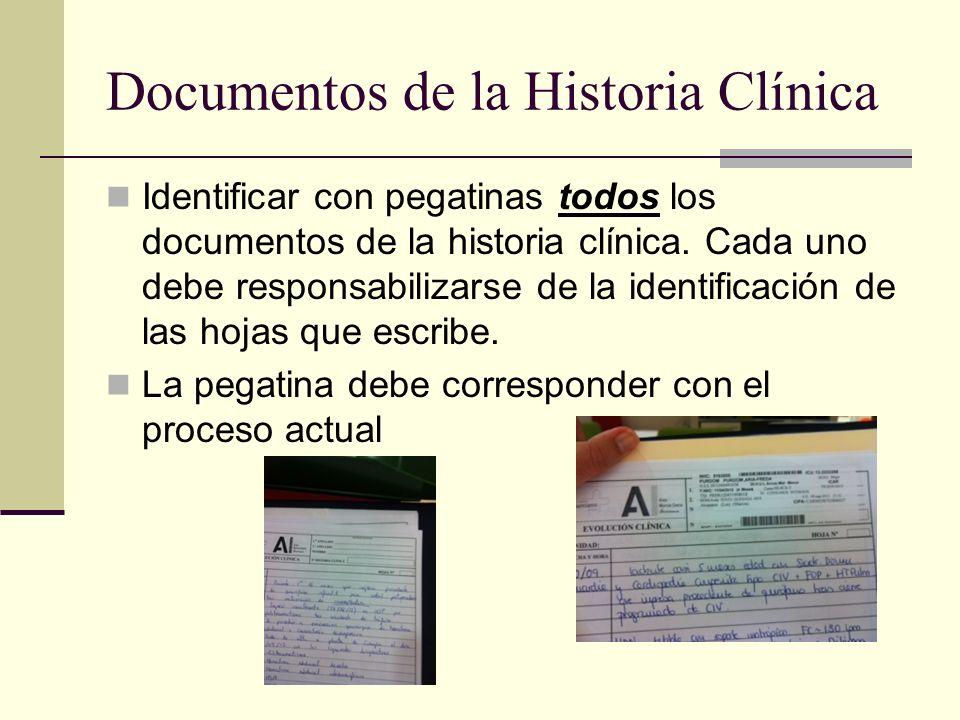 Documentos de la Historia Clínica