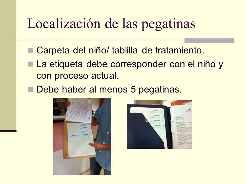 Localización de las pegatinas