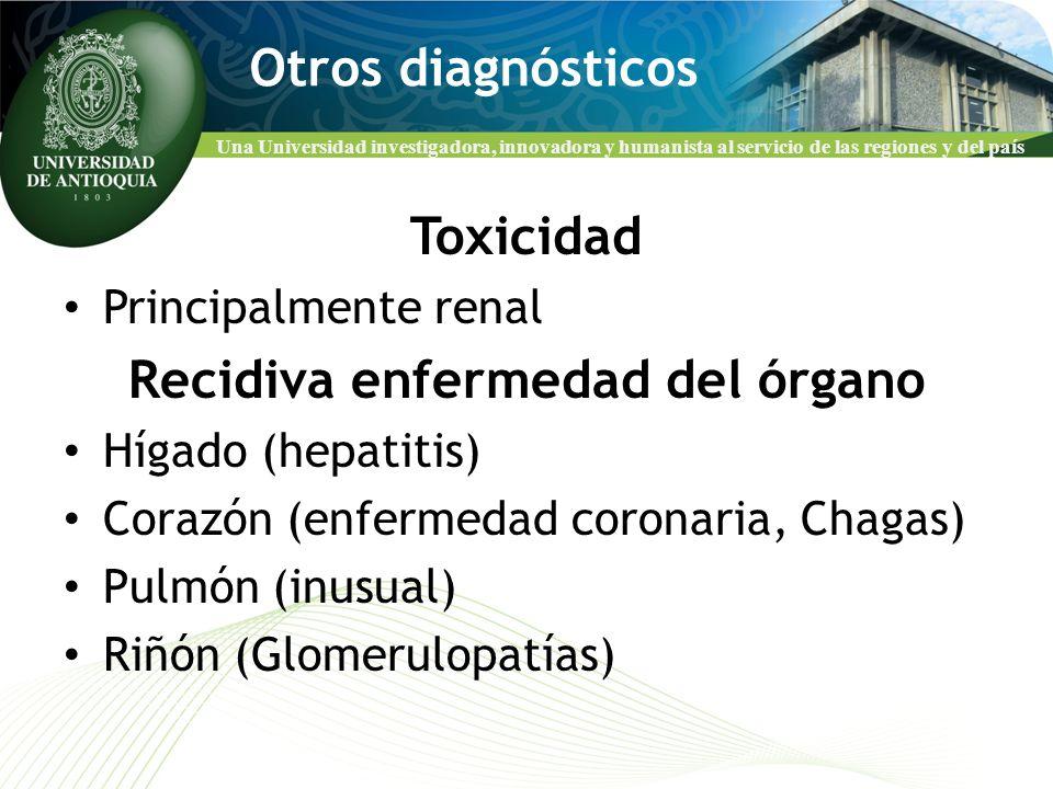 Recidiva enfermedad del órgano
