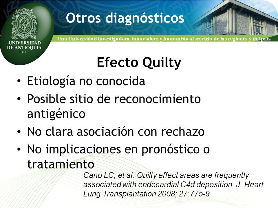 Otros diagnósticos Efecto Quilty Etiología no conocida