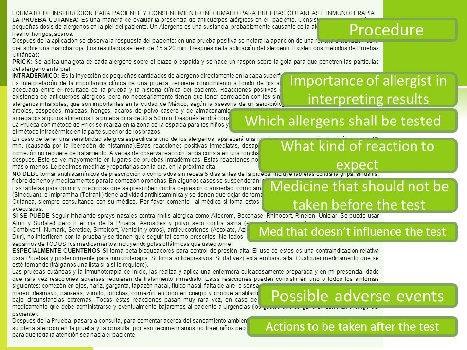 Possible adverse events
