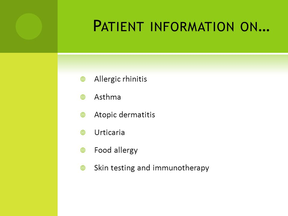 Patient information on…