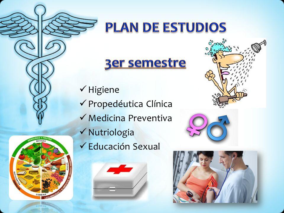 PLAN DE ESTUDIOS 3er semestre