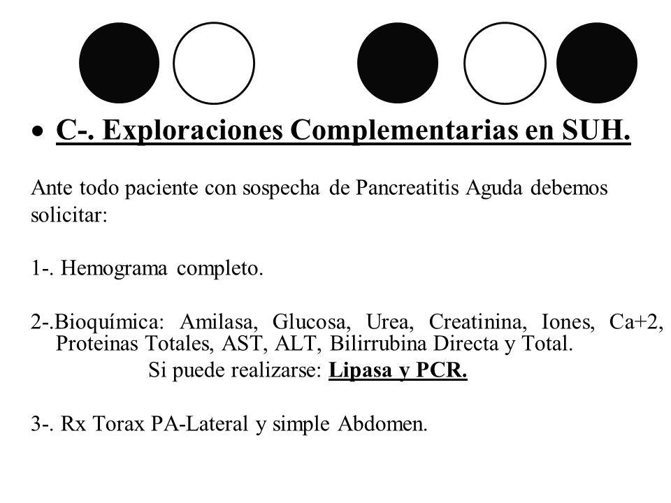C-. Exploraciones Complementarias en SUH.