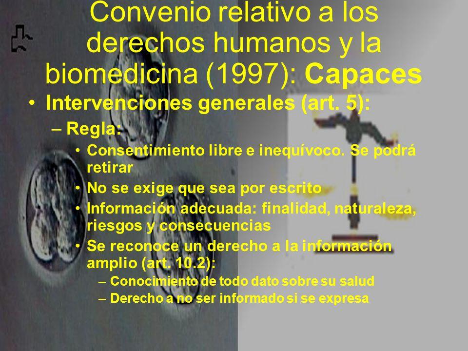 Convenio relativo a los derechos humanos y la biomedicina (1997): Capaces