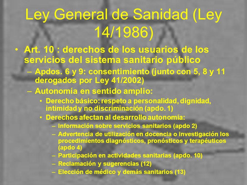 Ley General de Sanidad (Ley 14/1986)