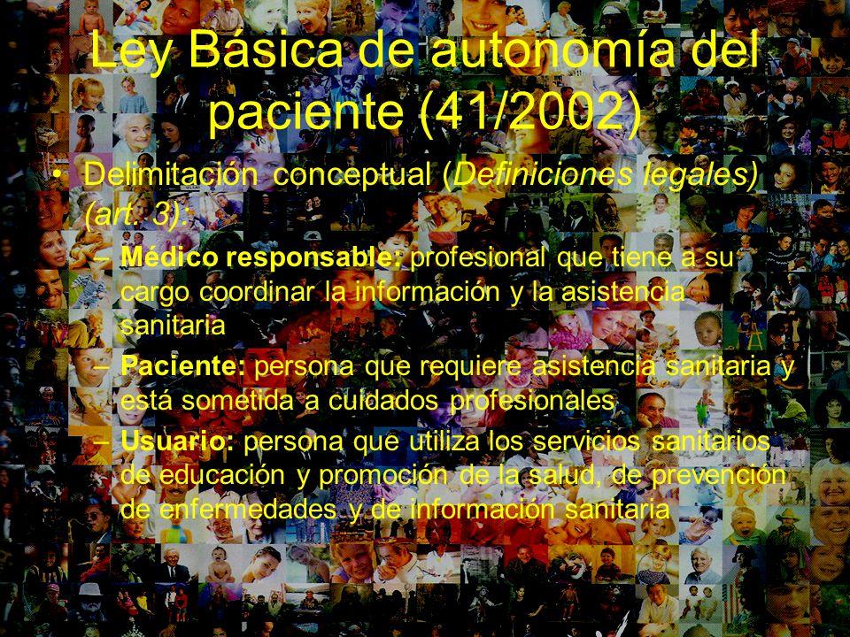 Ley Básica de autonomía del paciente (41/2002)