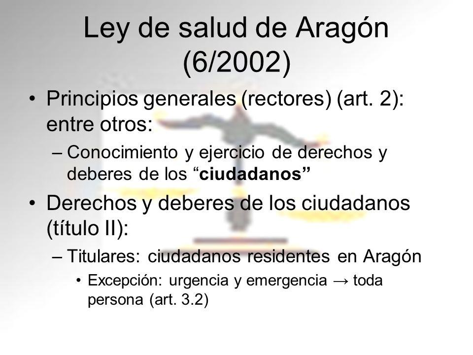 Ley de salud de Aragón (6/2002)