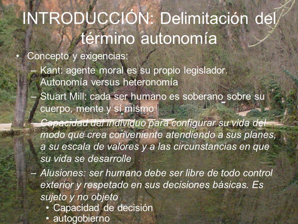 INTRODUCCIÓN: Delimitación del término autonomía