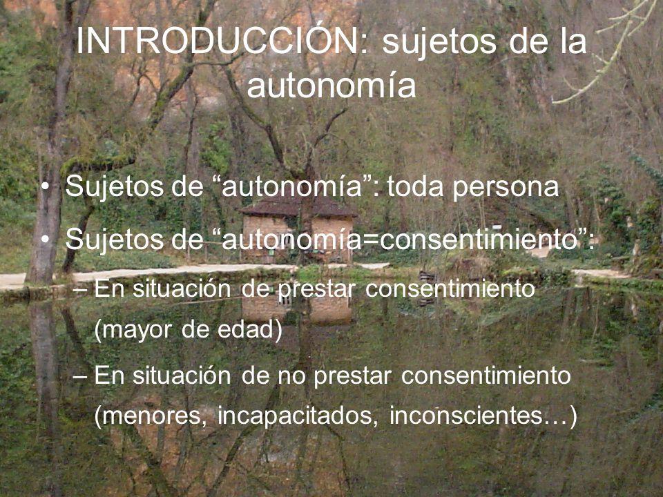 INTRODUCCIÓN: sujetos de la autonomía