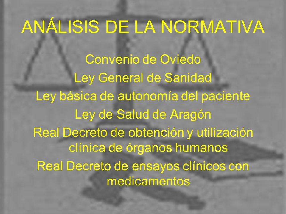 ANÁLISIS DE LA NORMATIVA