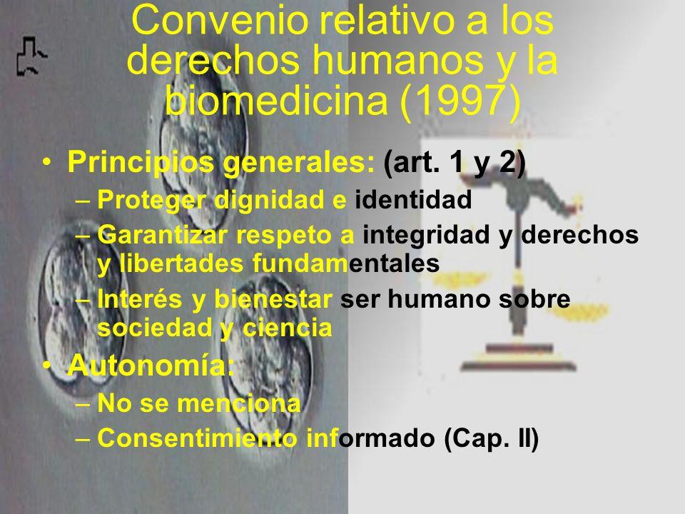 Convenio relativo a los derechos humanos y la biomedicina (1997)