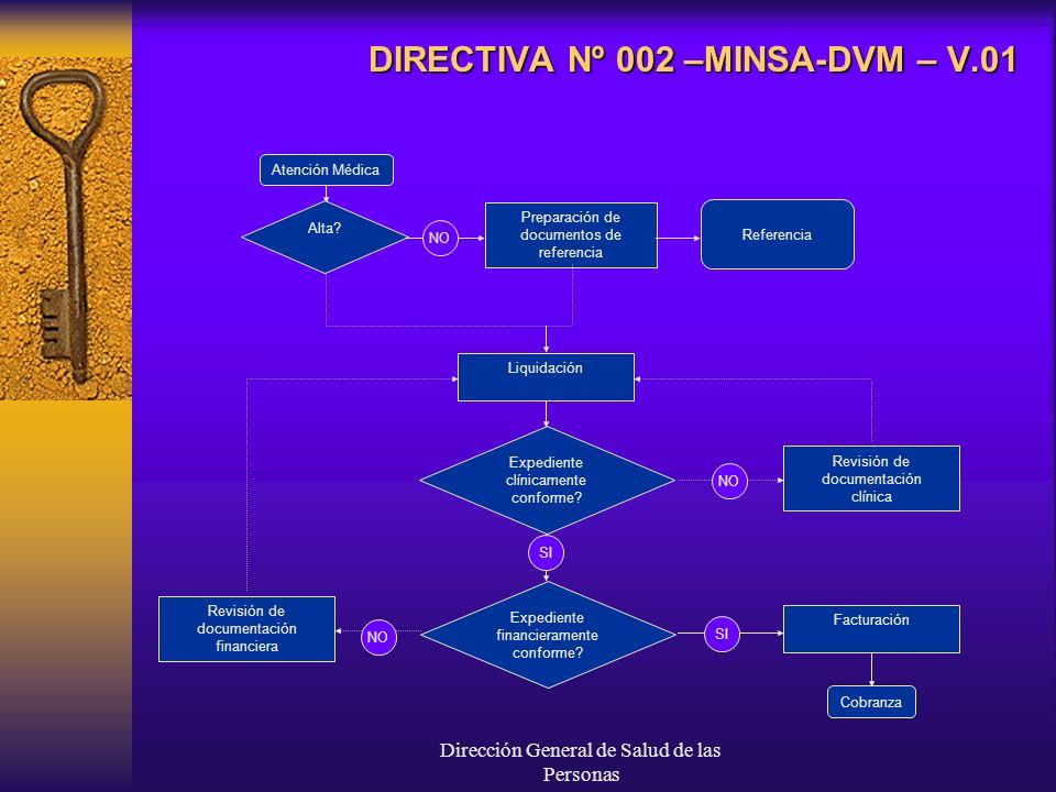 DIRECTIVA Nº 002 –MINSA-DVM – V.01