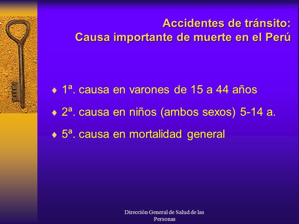 Accidentes de tránsito: Causa importante de muerte en el Perú