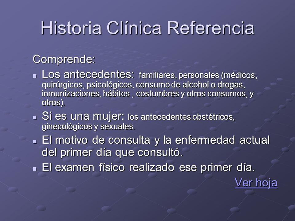 Historia Clínica Referencia