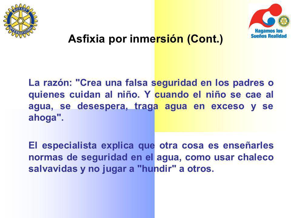 Asfixia por inmersión (Cont.)