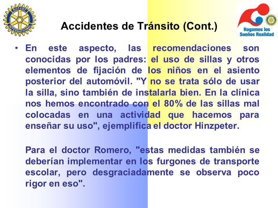 Accidentes de Tránsito (Cont.)