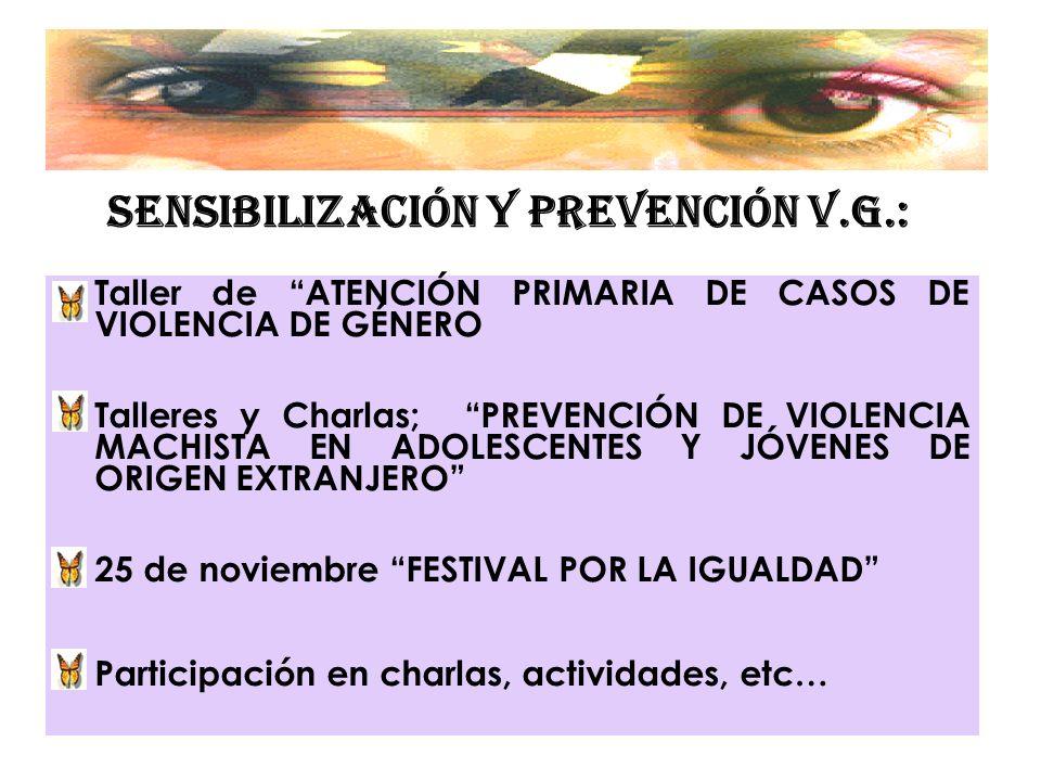SENSIBILIZACIÓN Y PREVENCIÓN V.G.: