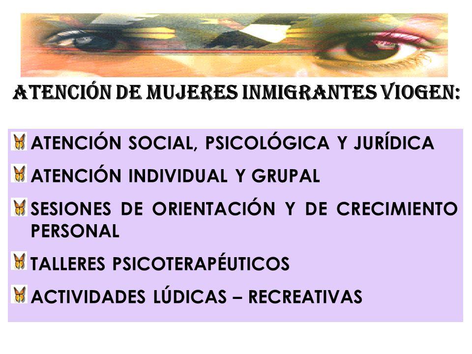 ATENCIÓN DE MUJERES INMIGRANTES VIOGEN: