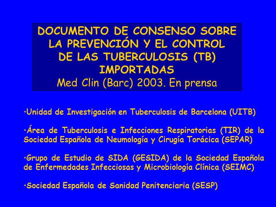 DOCUMENTO DE CONSENSO SOBRE LA PREVENCIÓN Y EL CONTROL