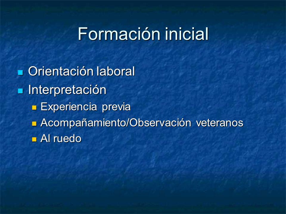Formación inicial Orientación laboral Interpretación