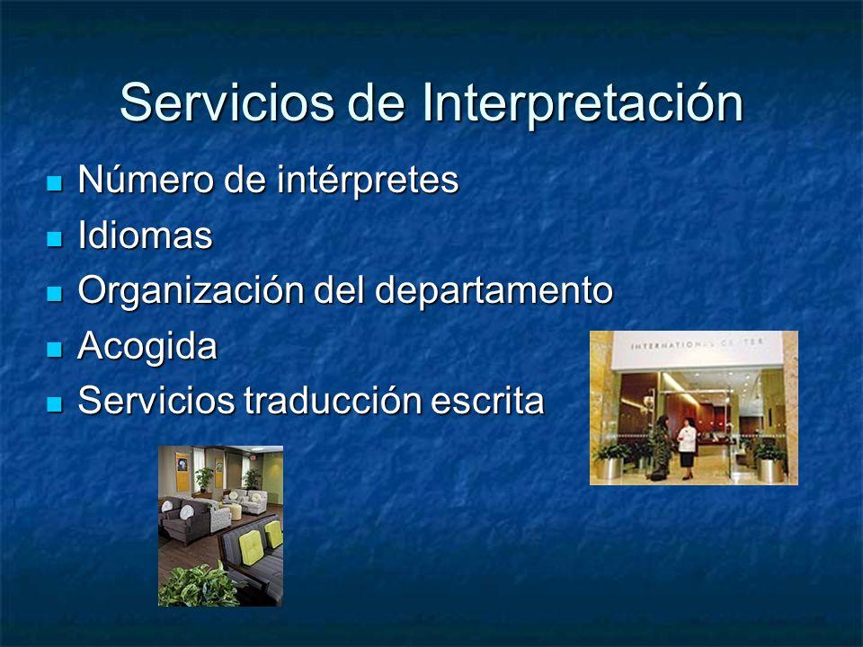 Servicios de Interpretación