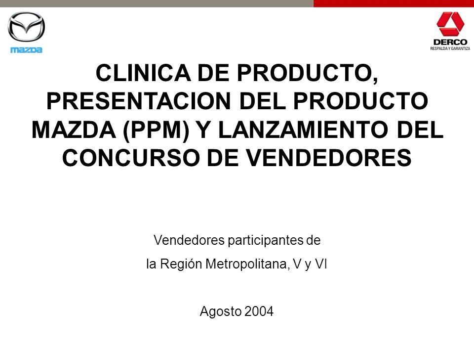 CLINICA DE PRODUCTO, PRESENTACION DEL PRODUCTO MAZDA (PPM) Y LANZAMIENTO DEL CONCURSO DE VENDEDORES