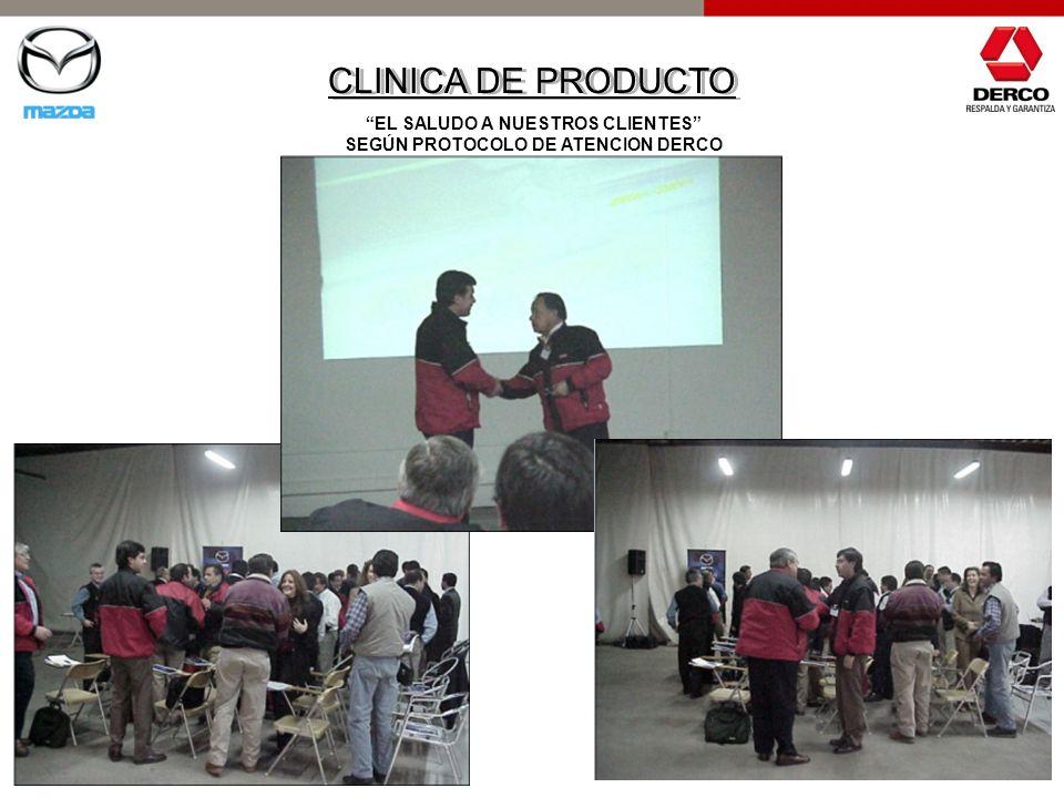 EL SALUDO A NUESTROS CLIENTES SEGÚN PROTOCOLO DE ATENCION DERCO