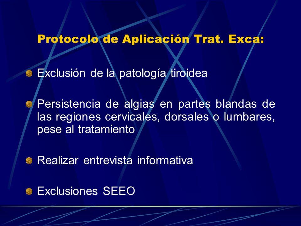 Protocolo de Aplicación Trat. Exca: