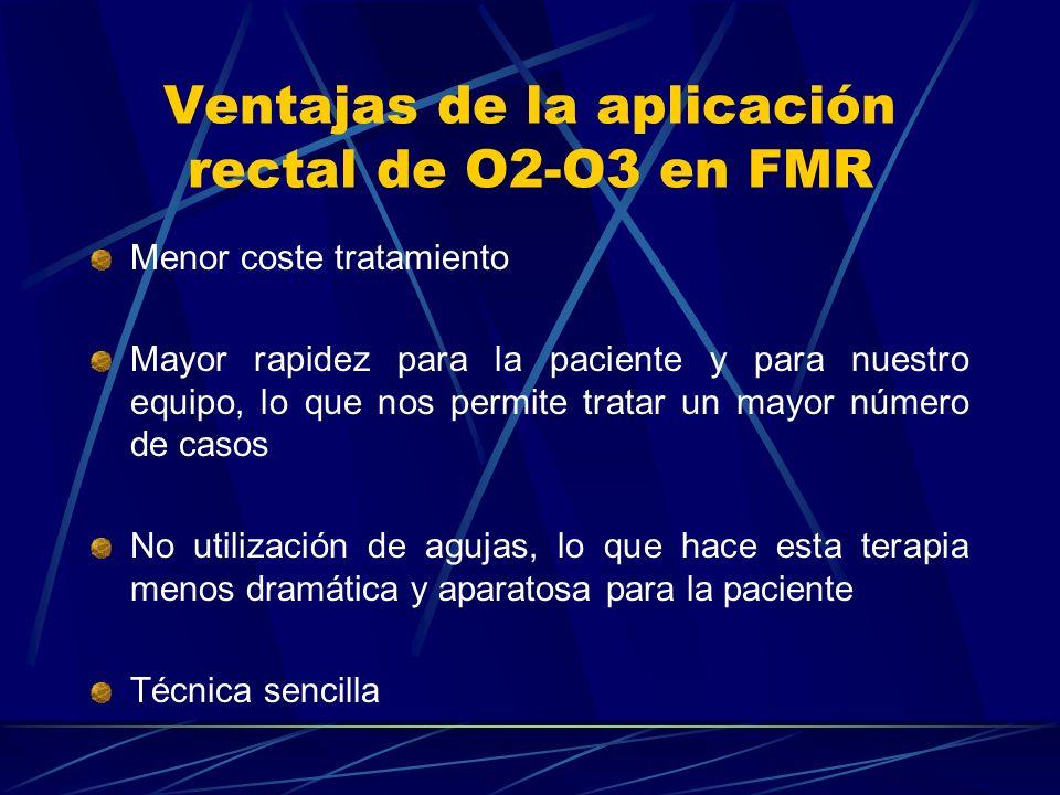 Ventajas de la aplicación rectal de O2-O3 en FMR