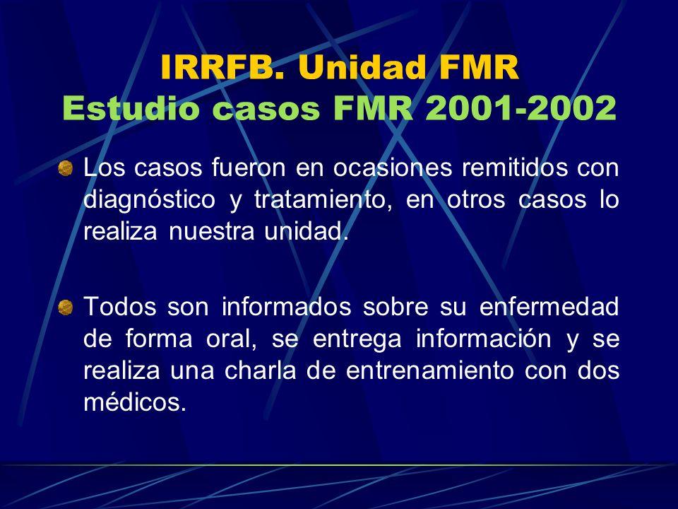 IRRFB. Unidad FMR Estudio casos FMR 2001-2002