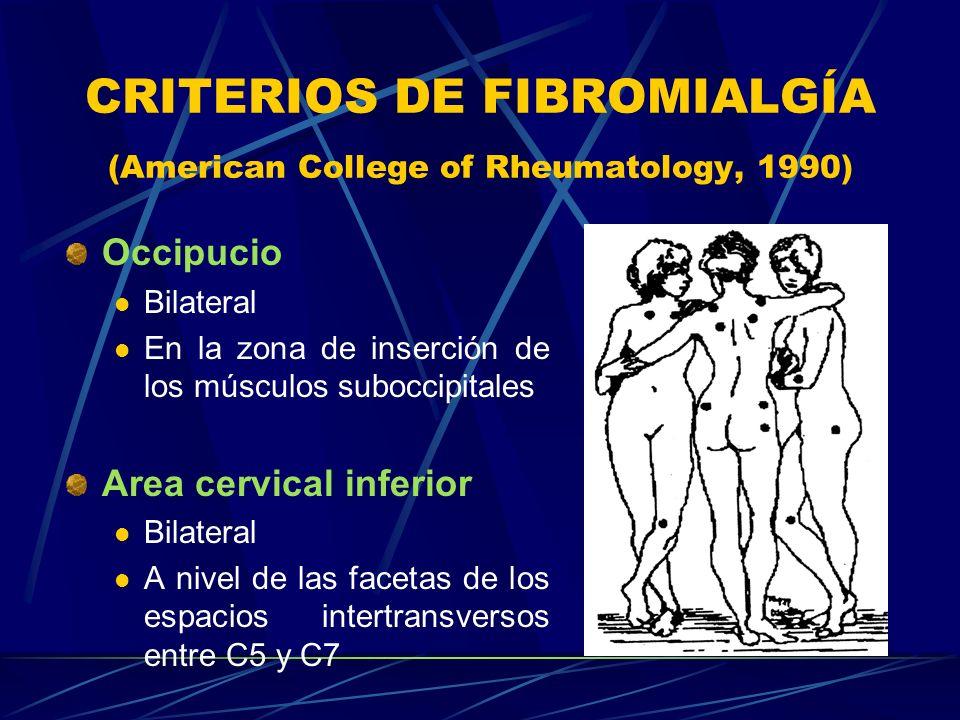 CRITERIOS DE FIBROMIALGÍA (American College of Rheumatology, 1990)