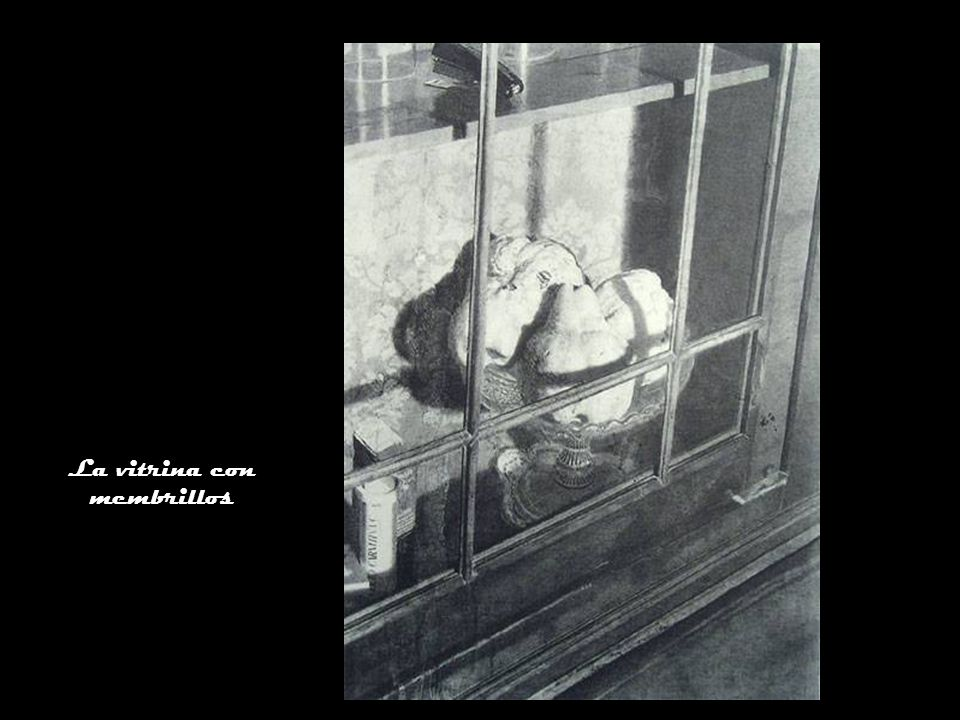 La vitrina con membrillos