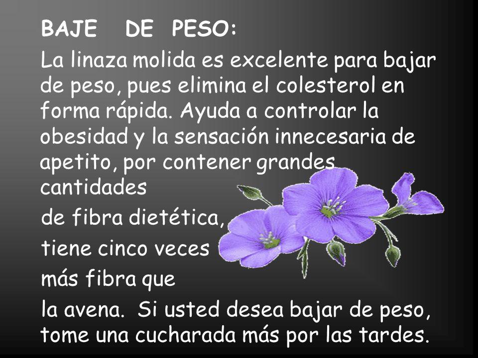 BAJE DE PESO: