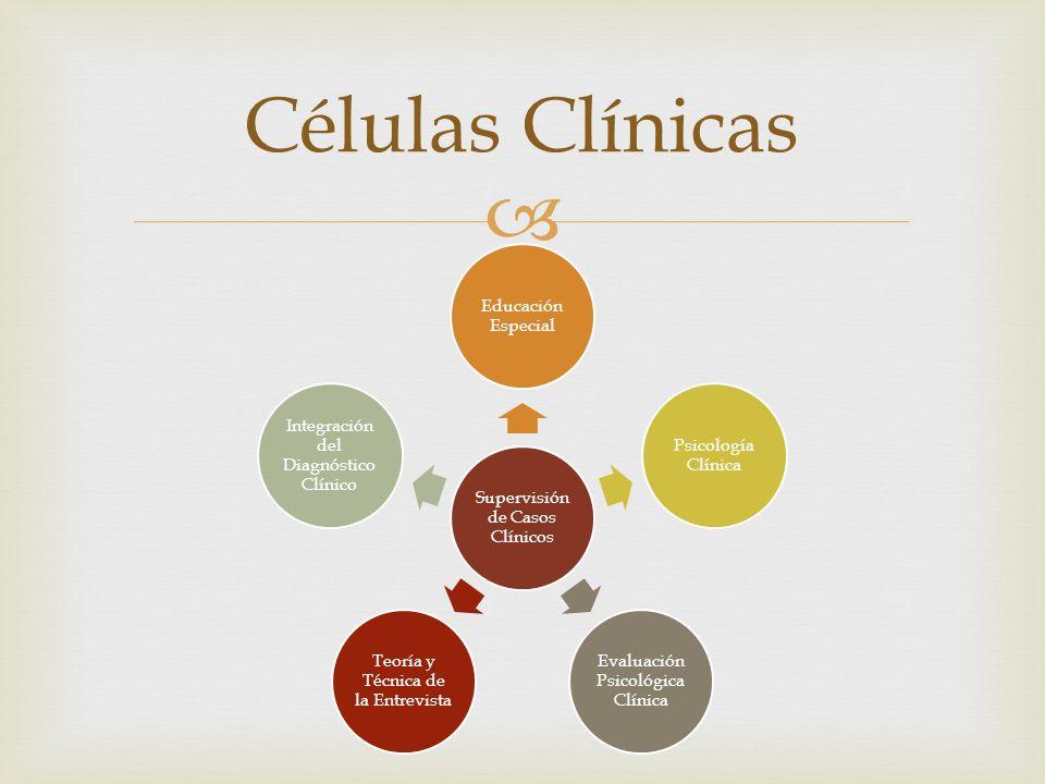Células Clínicas Supervisión de Casos Clínicos Educación Especial