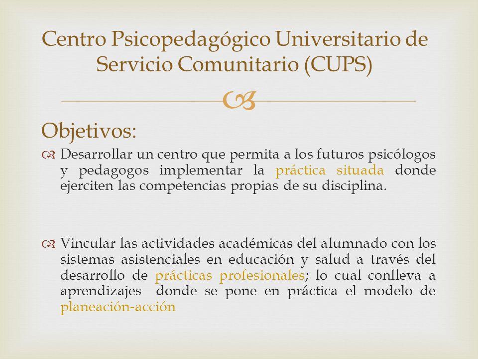 Centro Psicopedagógico Universitario de Servicio Comunitario (CUPS)