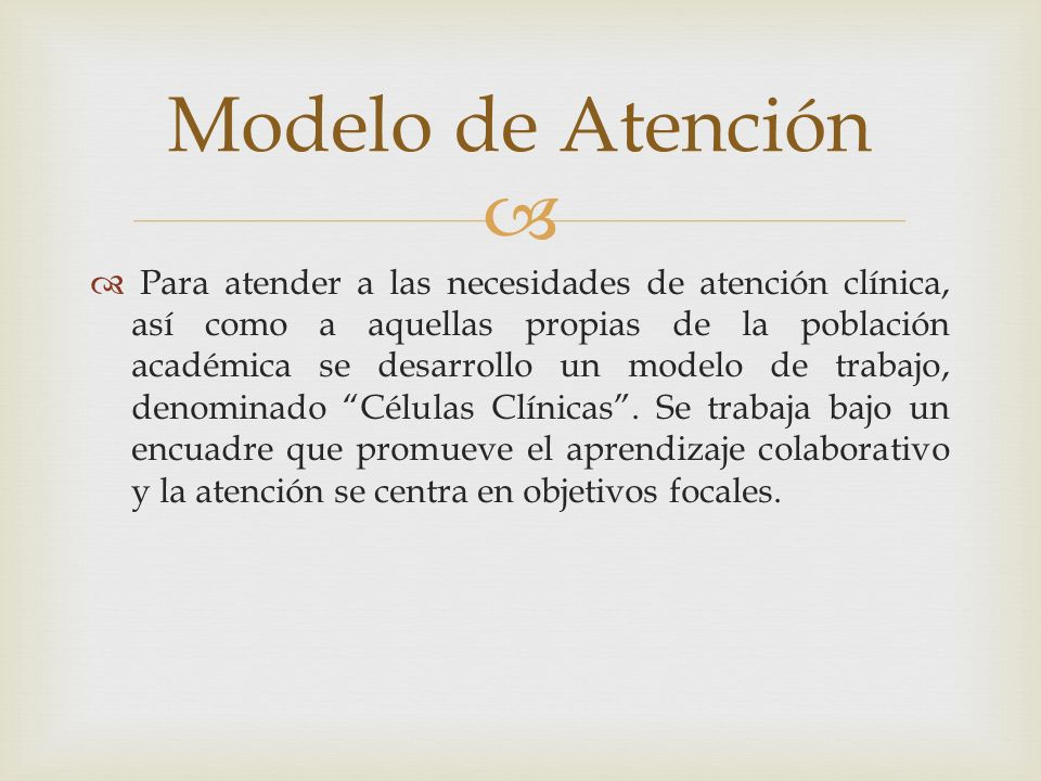 Modelo de Atención