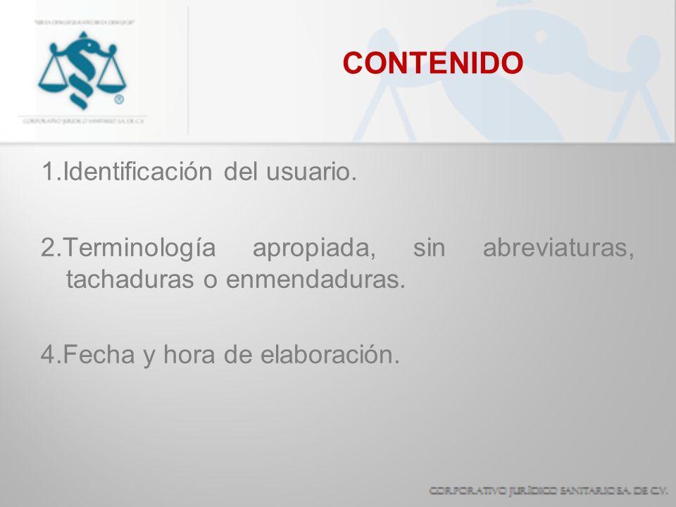 CONTENIDO 1.Identificación del usuario.