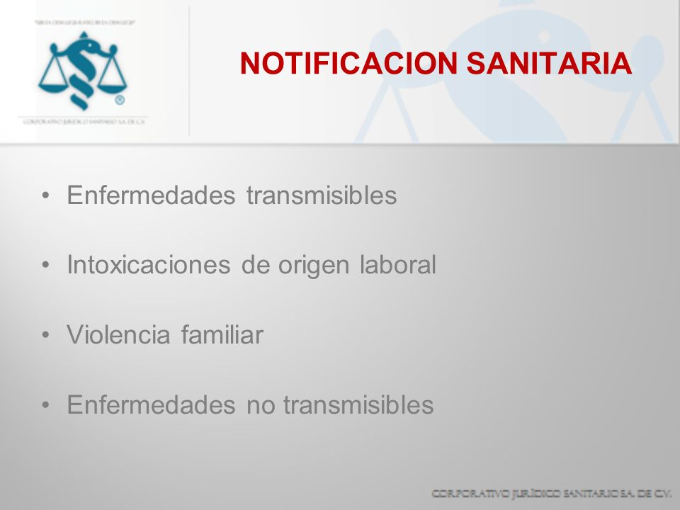 NOTIFICACION SANITARIA