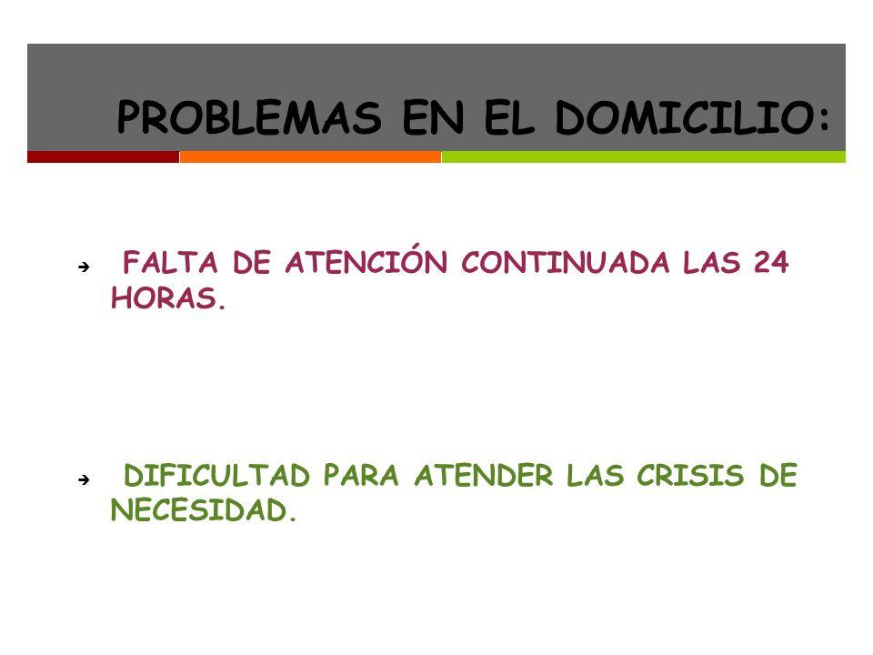 PROBLEMAS EN EL DOMICILIO: