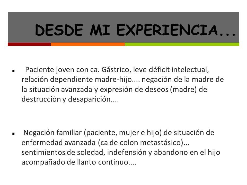 DESDE MI EXPERIENCIA...