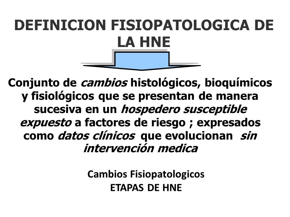 DEFINICION FISIOPATOLOGICA DE LA HNE
